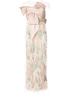 Marchesa embroidered bow bodice gown