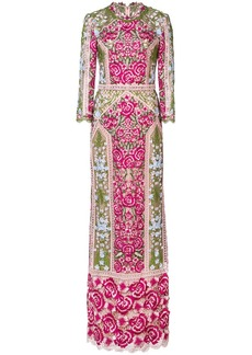 Marchesa embroidered floral dress