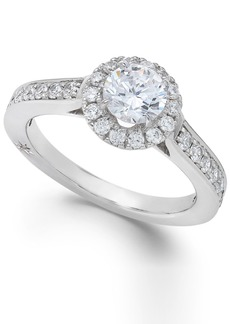 Estate Halo by Marchesa Certified Diamond Engagement Ring in 18k White Gold (1-1/4 ct. t.w.), Created for Macy's
