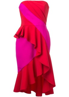 Marchesa fitted strapless dress