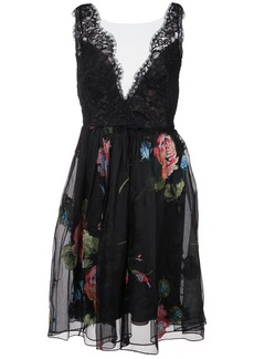 Marchesa floral and lace dress