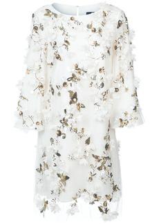 Marchesa floral appliqué dress