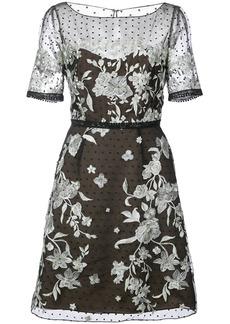 Marchesa floral appliqué mini dress