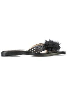 Marchesa floral applique sandals