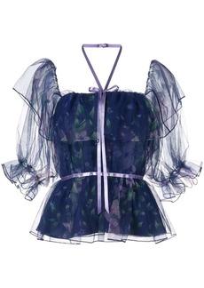 Marchesa floral blouse