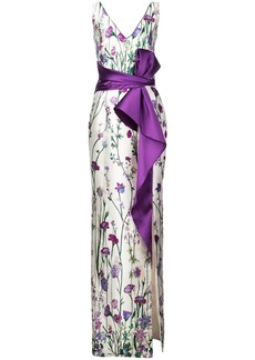 Marchesa floral bow dress