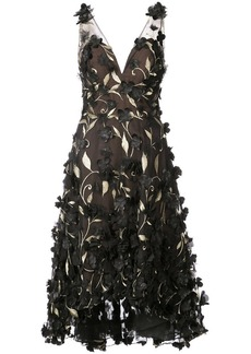Marchesa floral embroidered dress