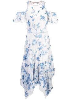 Marchesa floral evening dress