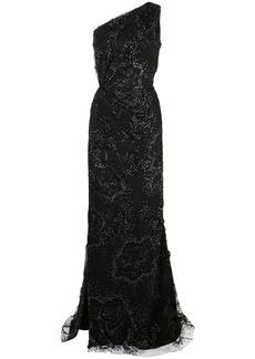 Marchesa floral glitter dress