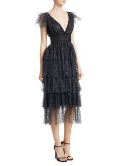 Marchesa Glitter Tulle Dress