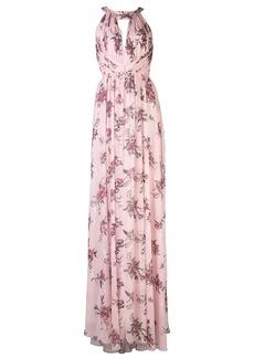 Marchesa halterneck floral bridesmaid dress