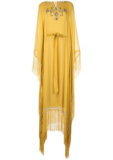 Marchesa jewel-embroidered kaftan dress