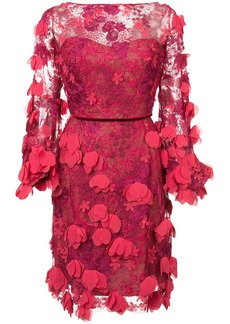 Marchesa lace fitted dress