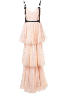 Marchesa long empire line dress