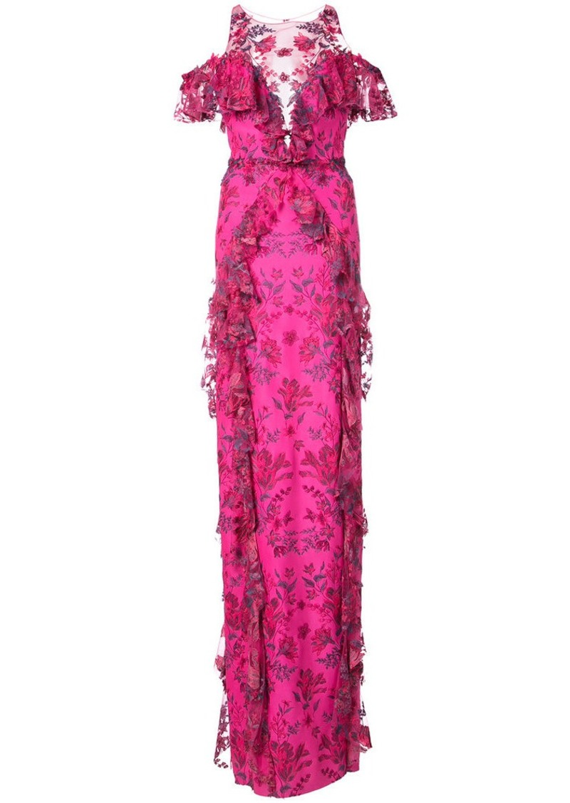 Marchesa long floral gown