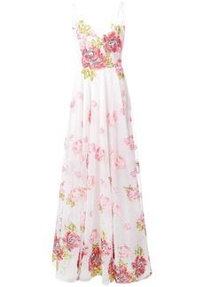 Marchesa long rose dress