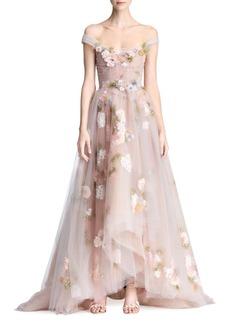 A-Line Floral Gown