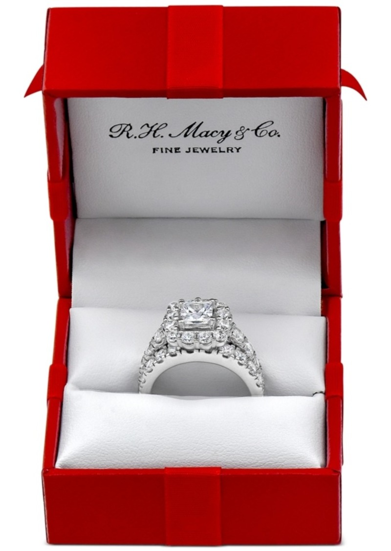 Marchesa Certified Diamond Princess Bridal Set (4 ct. t.w.)