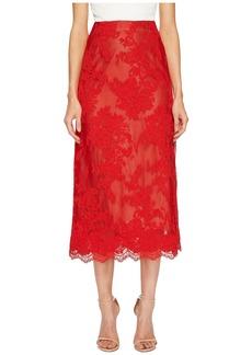 Marchesa Corded Lace Tea Length Skirt