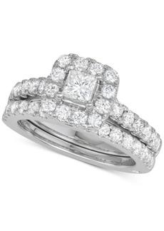 Marchesa Diamond Princess Bridal Set (2 ct. t.w.) in 18k White Gold