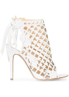 Marchesa Edith cage sandals - White