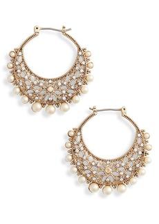 Marchesa Filigree Click Hoop Earrings