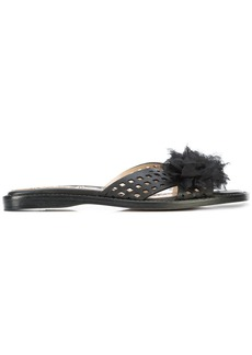 Marchesa floral applique sandals - Black