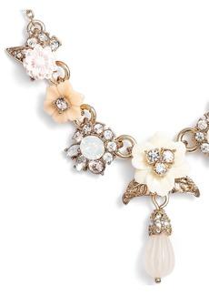 Marchesa Floral Drop Necklace