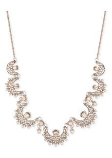 "Marchesa Gold-Tone Crystal & Imitation Pearl 26"" Slider Statement Necklace"