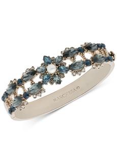 Marchesa Gold-Tone Crystal, Stone & Imitation Pearl Bangle Bracelet