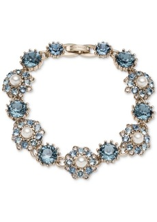 Marchesa Gold-Tone Crystal, Stone & Imitation Pearl Flex Bracelet