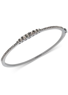 Marchesa Hematite-Tone Crystal Bangle Bracelet