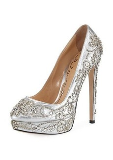 Marchesa Mary Embellished Platform Pump
