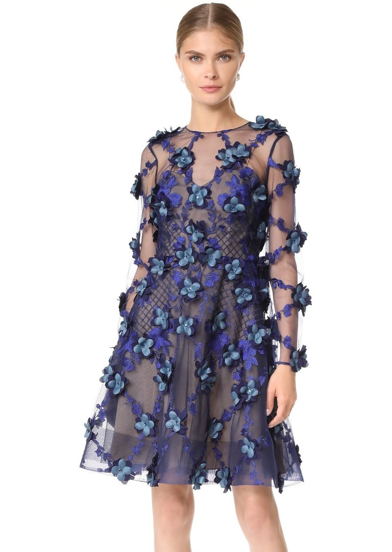 e4e38e3e Marchesa Marchesa Notte Embroidered Cocktail Dress | Dresses