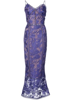 Marchesa embroidered dress