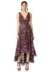 Marchesa Notte Floral A Line Gown