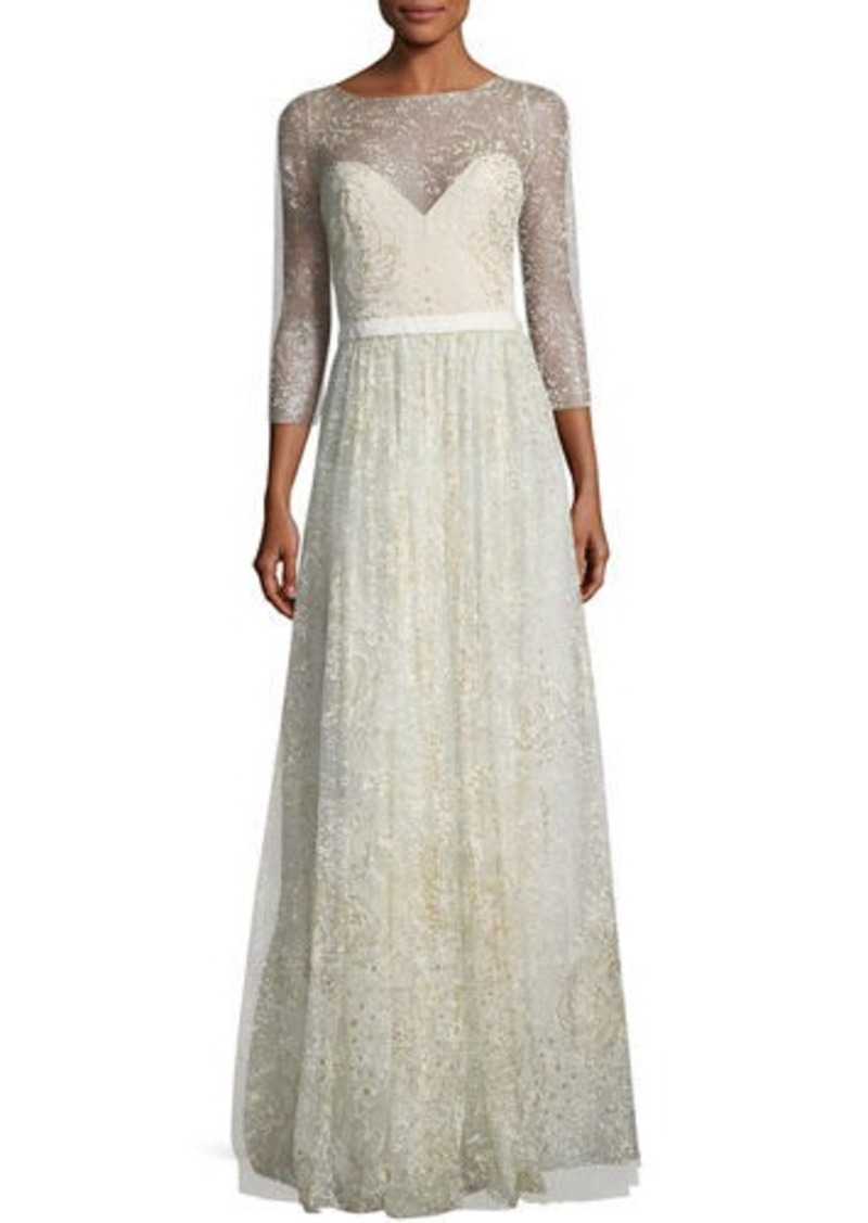 63ad9fd474 Marchesa Glitter Tulle Sweetheart Illusion Gown Now $497.00