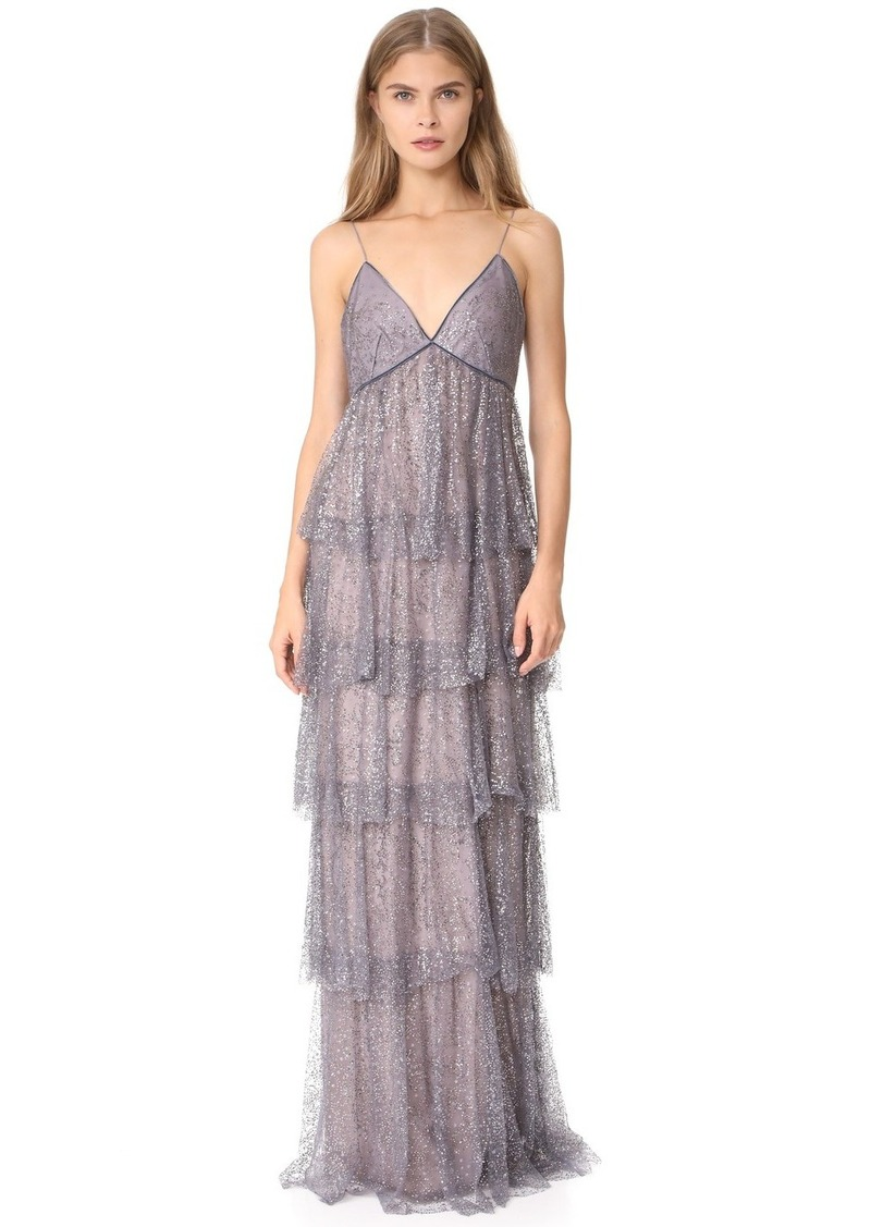 3bb5a1cf1e Marchesa Marchesa Notte Glitter Tulle Tiered Gown | Dresses