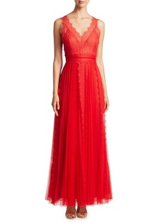 Marchesa Notte Lace Tulle Gown