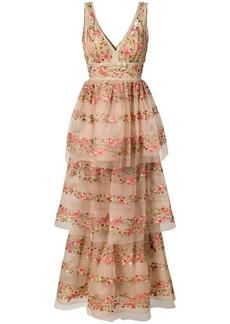 Marchesa layered floral dress
