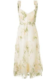 Marchesa floral lace empire line dress