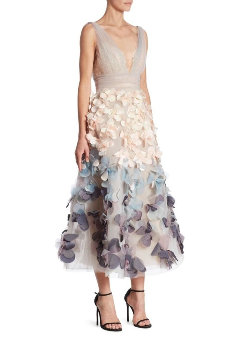 SALE! Marchesa Marchesa Notte Ombre Flutter Dress