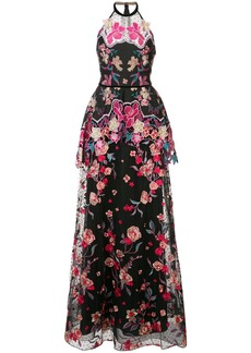 Marchesa organza floral dress