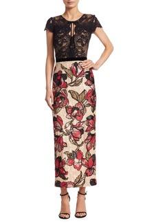 Marchesa Notte Sequin Column Gown