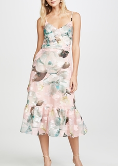 Marchesa Notte Sleeveless Cocktail Dress