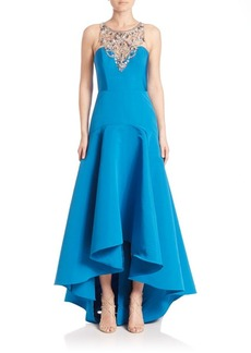Marchesa Notte Sleeveless Embellished Gown