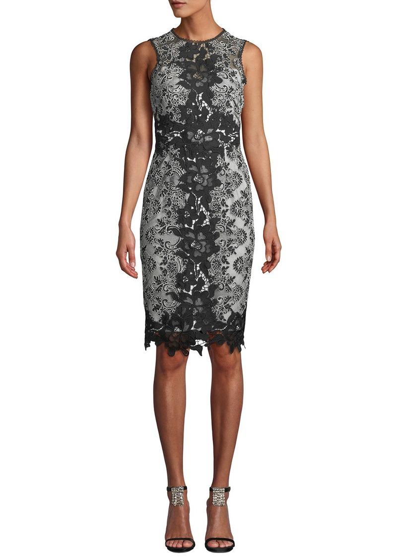 09dd893bee Marchesa Marchesa Notte Sleeveless Lace Colorblock Dress