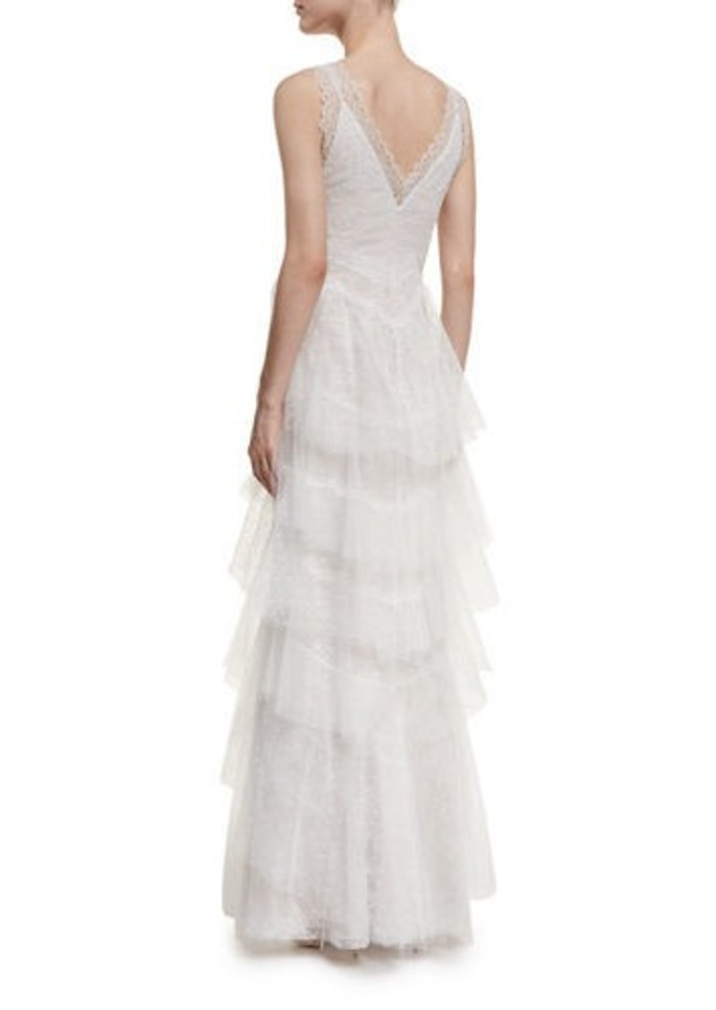05a30b1aa89e SALE! Marchesa Marchesa Notte Sleeveless Lace Tiered Gown