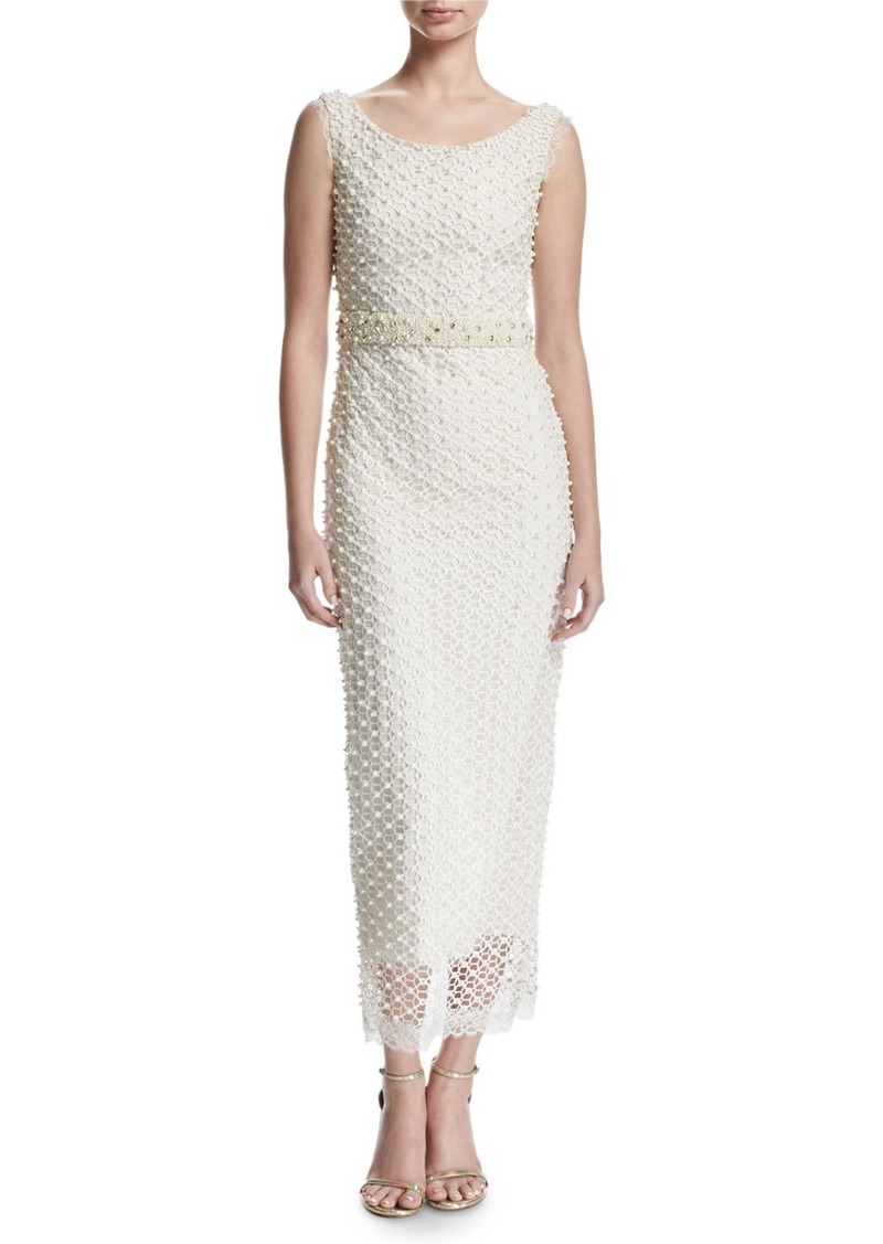 Marchesa Marchesa Notte Sleeveless Netted Beaded Midi Gown | Dresses