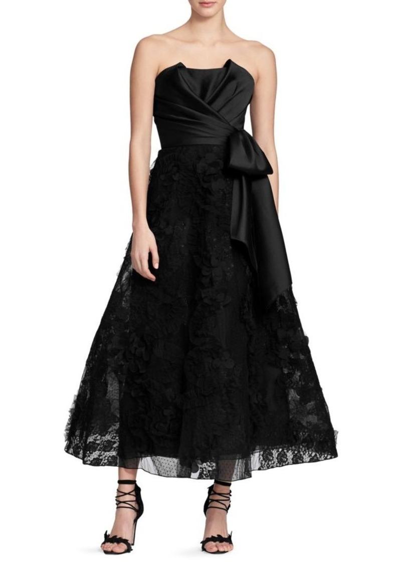 Marchesa Notte Sleeveless Tea-Length Gown